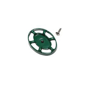 Arrowhead Brass PK1290 Replacement Oval Handle and Screw, Green, Domestic