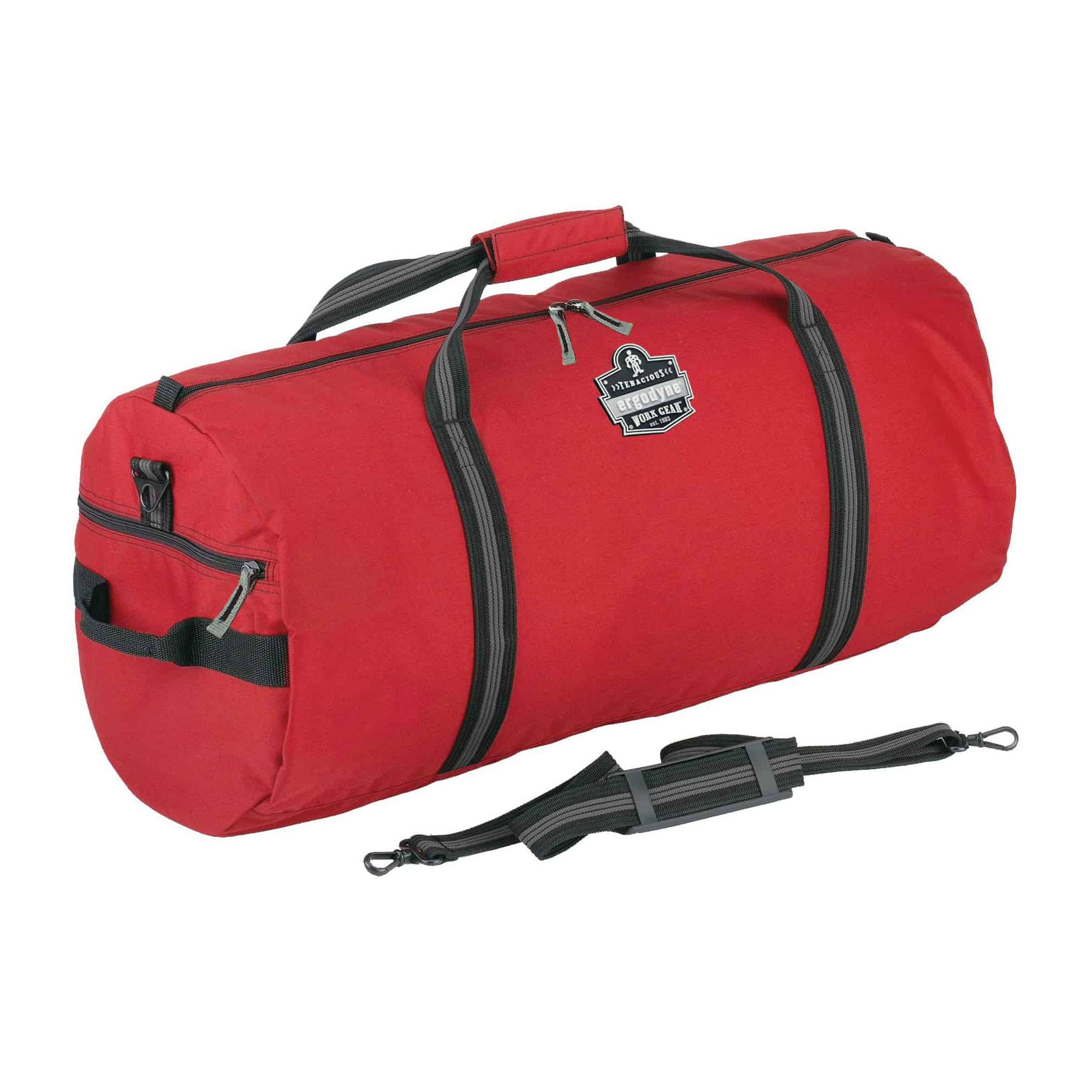 Arsenal® 13020 5020 Small Standard Gear Duffel Bag, Red, 600D Nylon, 2600 cu-in Storage, 12 in H x 12 in W x 23 in D