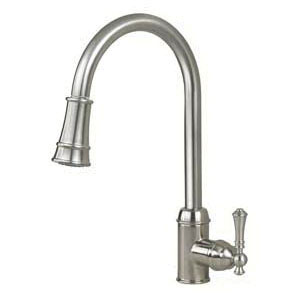 Artisan AF-410-SN Premium Contemporary Kitchen Faucet, 1.8 gpm Flow Rate, High-Arc Spout, Satin Nickel, 1 Handles, 1 Faucet Holes
