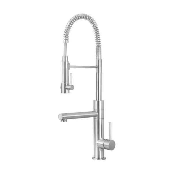 Artisan AF-660-SN Premium Contemporary Kitchen Faucet, 1.8 gpm Flow Rate, Swivel Spout, Satin Nickel, 1 Handles, 1 Faucet Holes