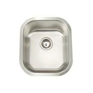 Artisan AR1618-D8 Premium Kitchen Sink, 13-1/2 in L x 15-3/4 in W x 8 in D Bowl, 15-1/2 in L x 17-3/4 in W, Under Mount, 304 Stainless Steel, Lustrous Satin