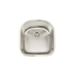 Artisan AR2120-D9 Premium Kitchen Sink, 17-3/4 in L x 18-1/2 in W x 9 in D Bowl, 19-3/4 in L x 20-1/2 in W, Under Mount, 304 Stainless Steel, Lustrous Satin