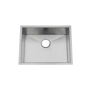 Artisan CPUZ2319-D10 Chef Pro Kitchen Sink, 21 in L x 17 in W x 10 in D Bowl, 23-1/8 in L x 19 in W, Under Mount, 304 Stainless Steel