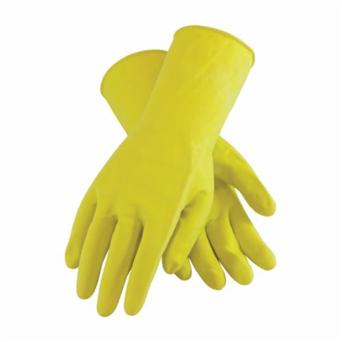 Assurance® 47-L442/XL Heavy Duty Chemical Resistant Gloves, XL, Ambidextrous Hand, Natural Rubber Latex, Black, Unlined Lining, 17 in L, Resists: Abrasion, Cut, Puncture and Tear, Unsupported Support, Beaded Rolled Cuff, 44 mil THK