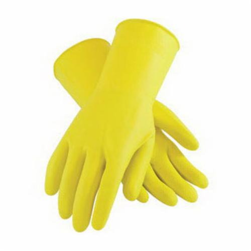 Assurance® 48-L2125Y/XL Chemical Resistant Gloves, XL, Ambidextrous Hand, Cotton/Natural Rubber Latex, Yellow, Flock Lining, 15 in L, Resists: Abrasion, Acid, Alcohol, Alkaline, Caustic, Grease, Ketone, Liquid, Salt and Tear, Unsupported Support