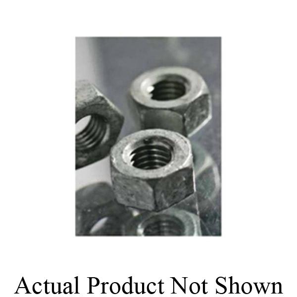 BBI 319075 Hex Nut, 3/8-16, Low Carbon Steel, Zinc CR+3, 2 Material Grade