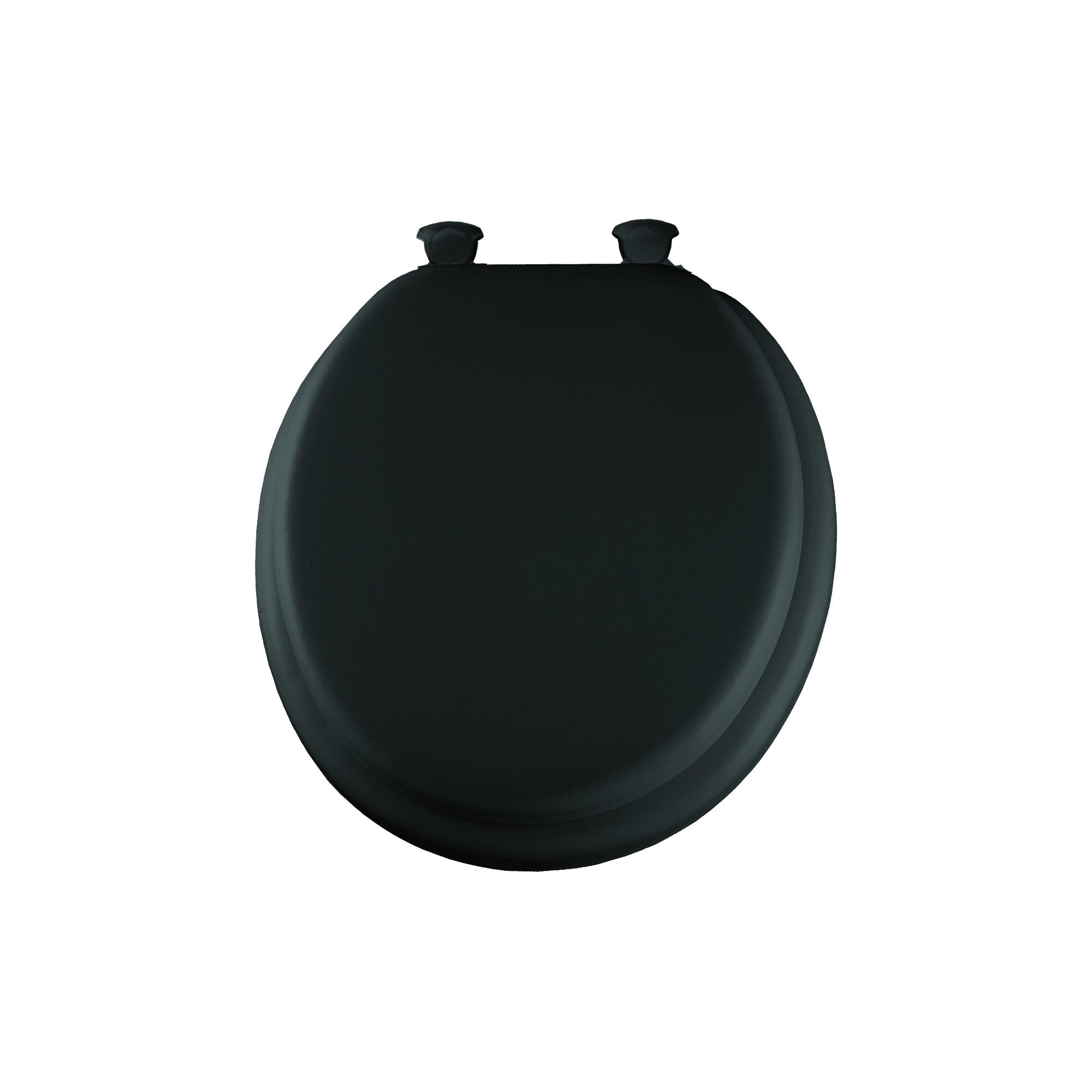 Mayfair® 13EC 047 Toilet Seat, Round Bowl, Closed Front, Wood, Easy Clean/Change® Hinge, Black