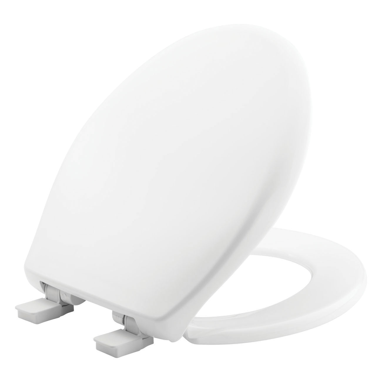 Church® 300E4 000 Toilet Seat With Cover, AFFINITY ™, Round Bowl, Closed Front, Plastic, White, Adjustable Hinge, Domestic