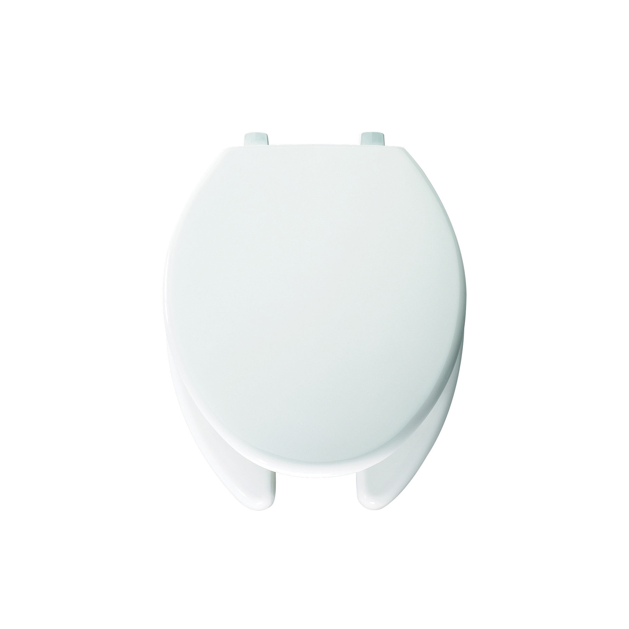 Bemis® 7850TDG 000 Toilet Seat With Cover, Elongated Bowl, Open Front, Plastic, White, Domestic