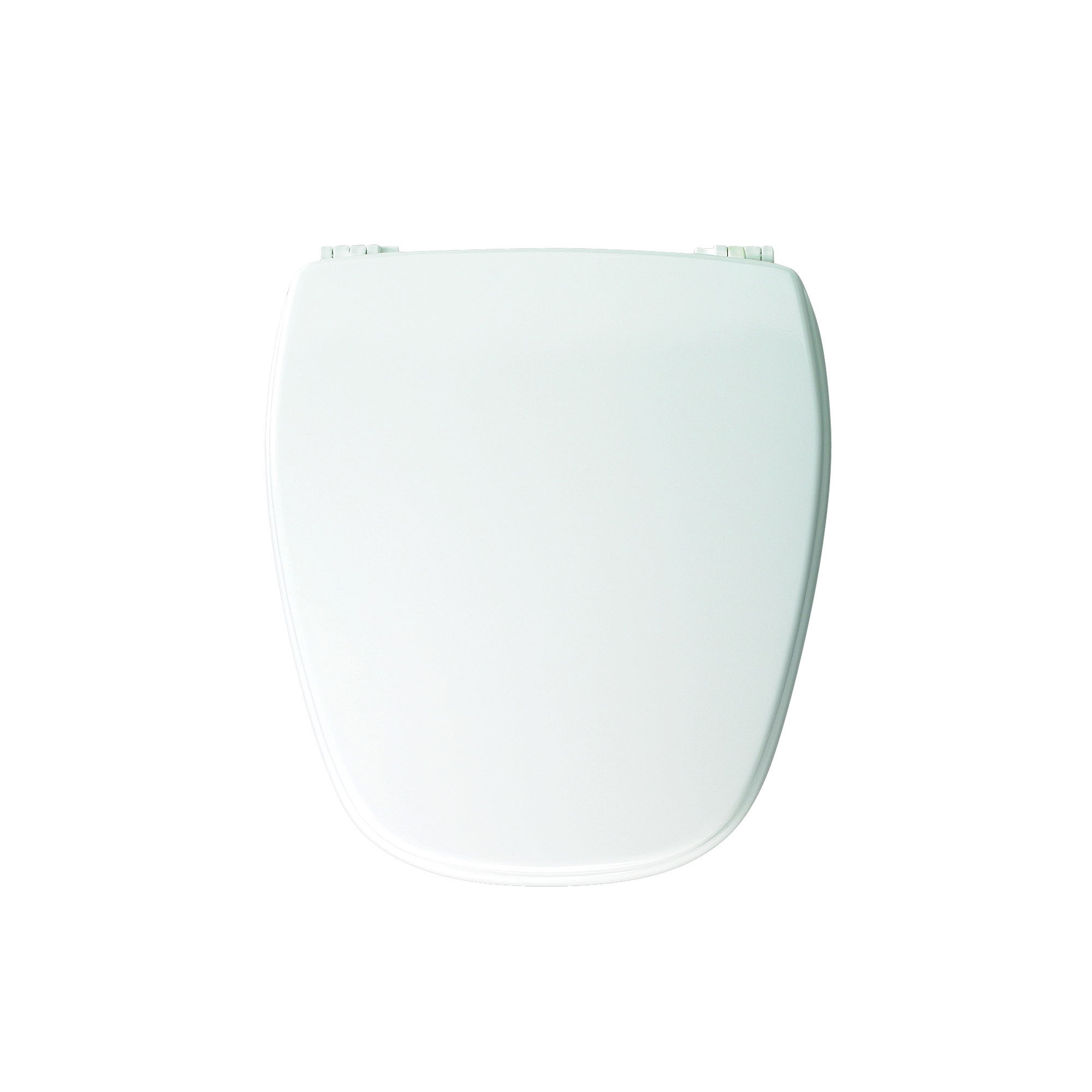 Church® NW209E10 000 Toilet Seat With Cover, Round Bowl, Closed Front, Wood, Adjustable Hinge, White, Domestic
