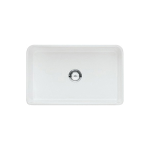 Blanco 524257 CERANA II™ Apron Front Farmhouse Kitchen Sink, Rectangular, 30 in W x 10 in D x 19 in H, Fireclay, White, Import