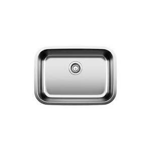 Blanco 441025 Kitchen Sink, STELLAR™, Rectangular, 26 in L x 16 in W x 8 in D Bowl, 28 in L x 18 in W, Under Mount, 18 ga 304 Stainless Steel, Refined Brushed