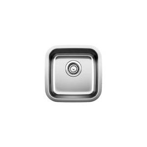 Blanco 441026 DIAMOND™ Bar Sink, SILGRANIT®, Refined Brushed, Squared Shape, 13 in L x 13 in W x 6-1/2 in D Bowl, 1 Faucet Holes, 15 in L x 15 in W, Under Mount, 18 ga 304 Stainless Steel