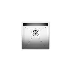 Blanco 518168 DIAMOND™ Bar Sink, SILGRANIT®, Satin, Squared Shape, 15 in L x 15 in W x 8 in D Bowl, 17 in L x 17 in W, Under Mount, 18 ga 304 Stainless Steel