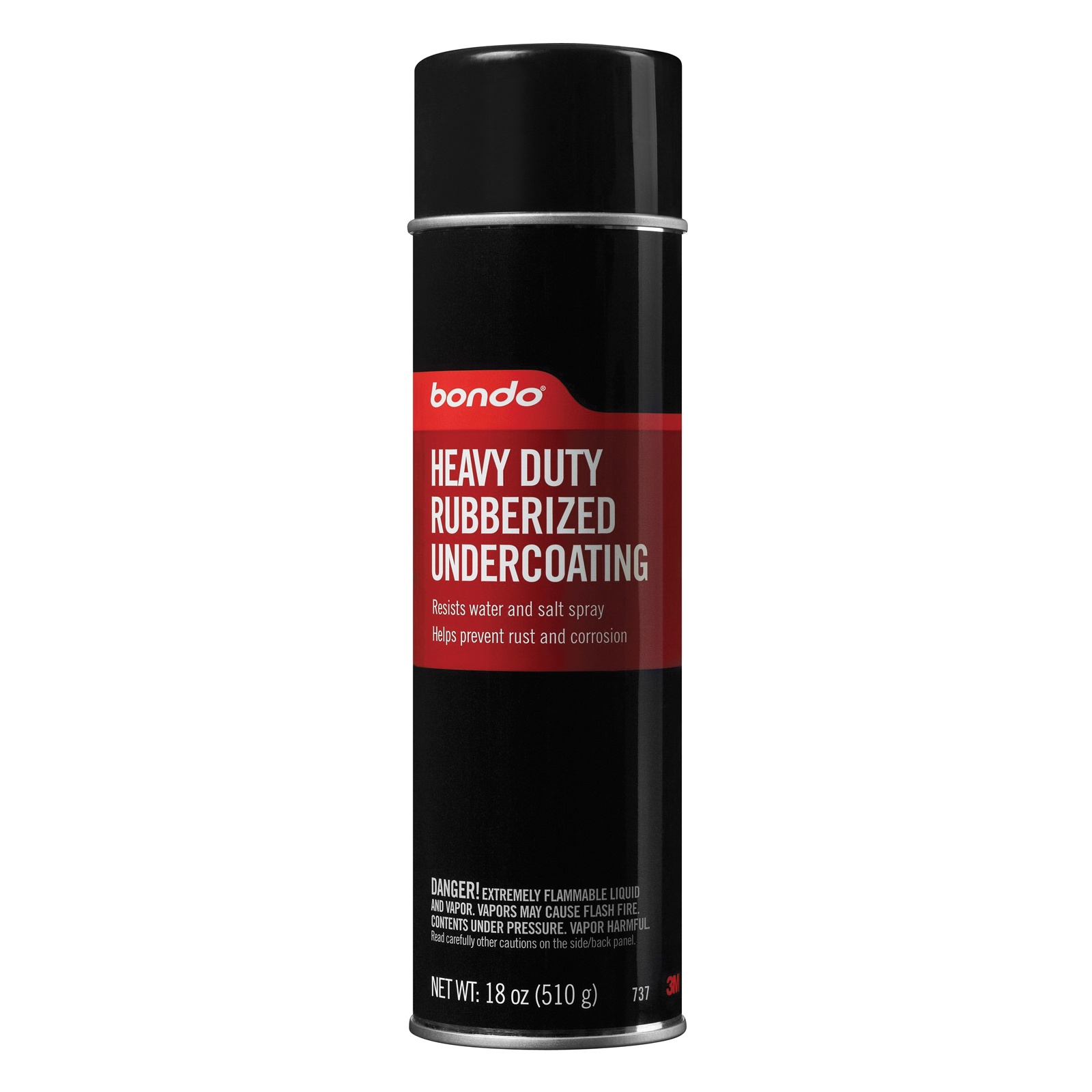 CRC® 05347 Extremely Flammable Rubberized Spray Undercoating, 20 oz Container, Opaque/Liquid Form, Black, 20 sq-ft Coverage