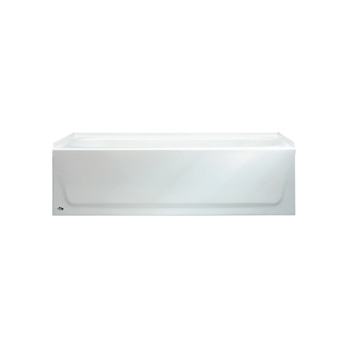 BOOTZ® 011-2364-00 Aloha Bathtub, Rectangular, 60 in L x 30 in W, Right Drain, White, Domestic