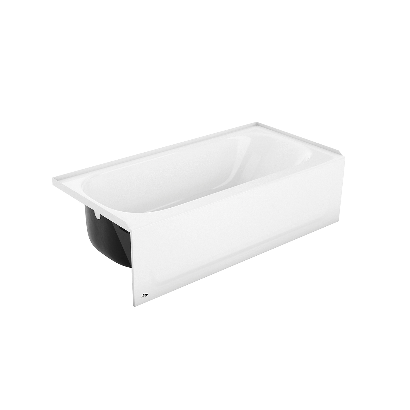 BOOTZ® 011-3341-00 Bathtub With Slip-Resistant Bottom, Maui, Soaking, 60 in W, Left Drain, White, Domestic