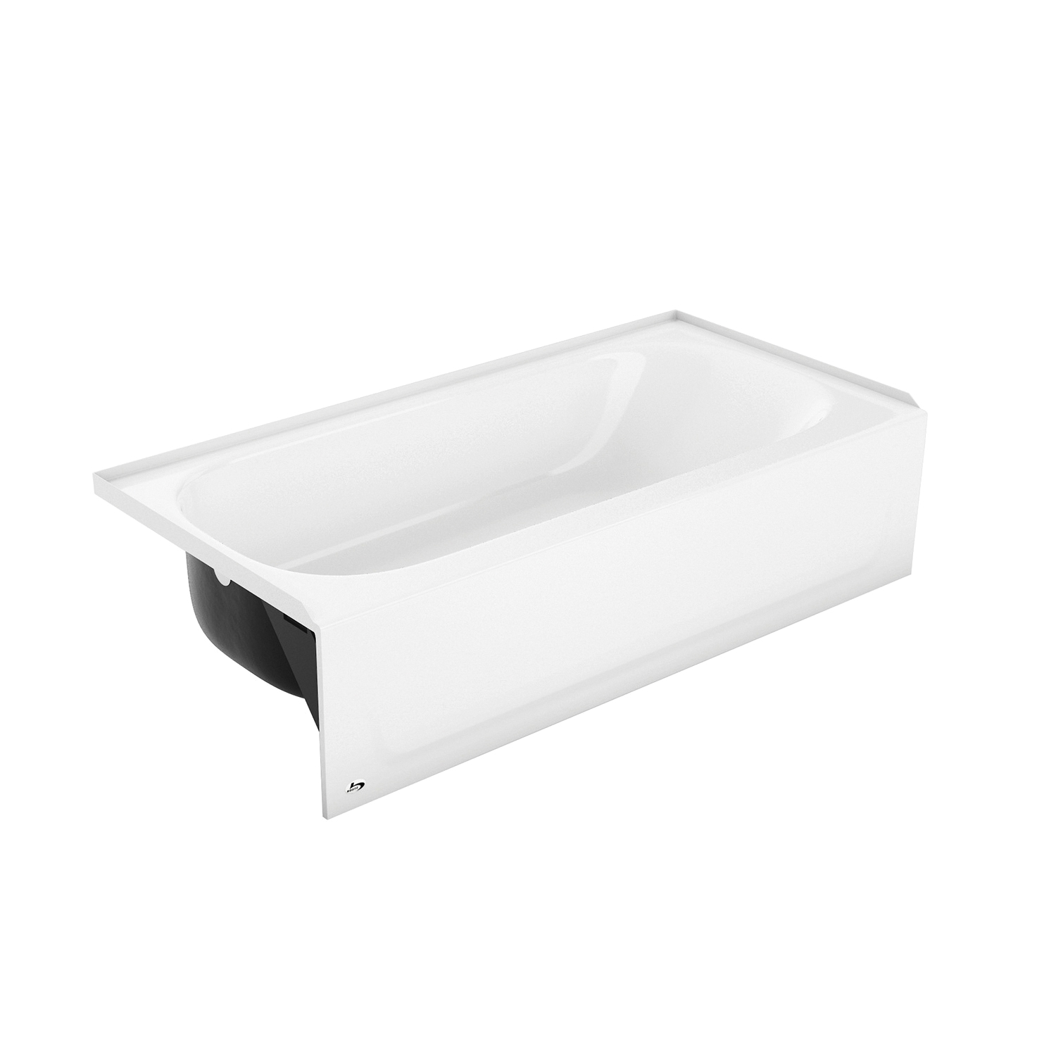 BOOTZ® 011-3364-00 Aloha Bathtub, Rectangular, 60 in L x 30 in W, Right Drain, White, Domestic