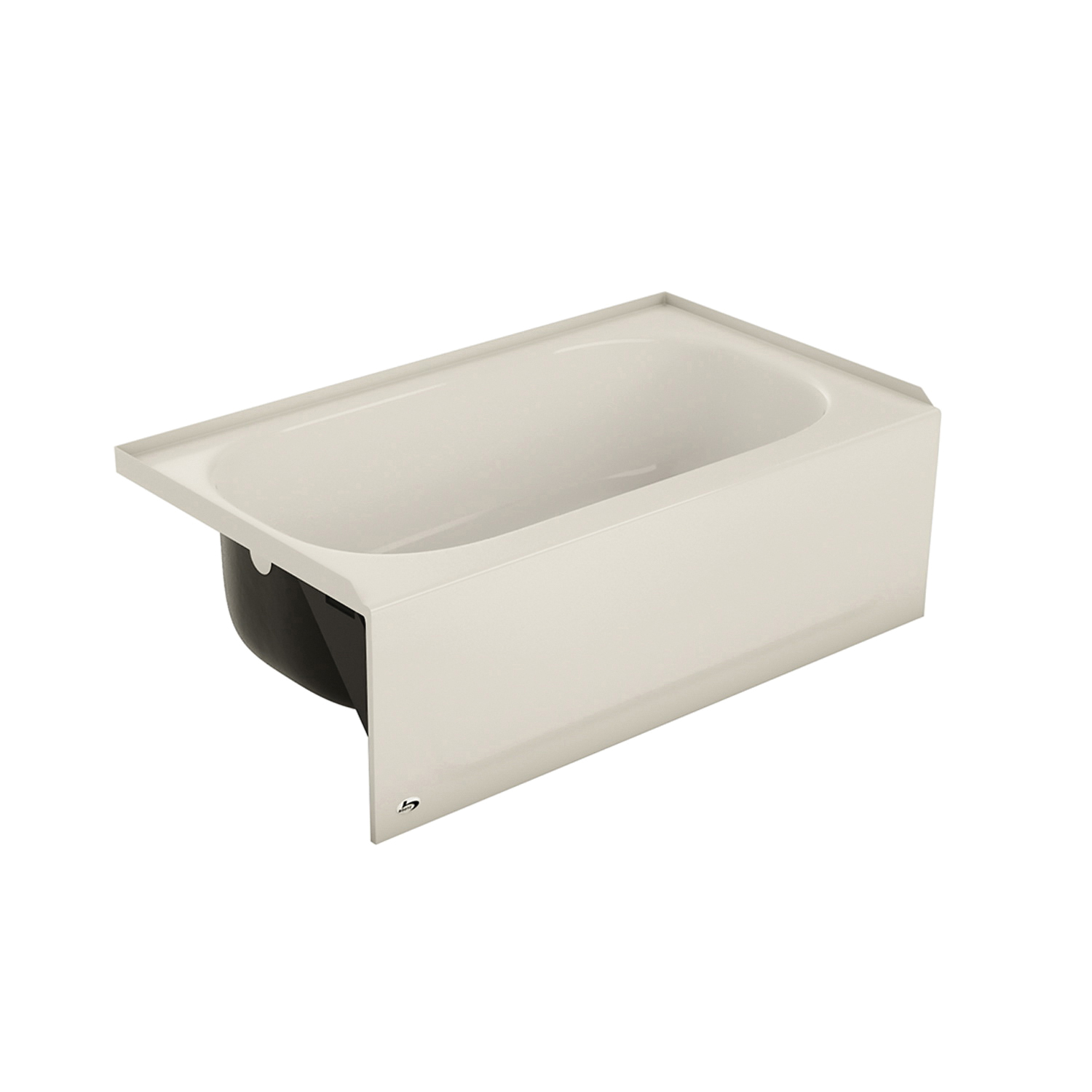 BOOTZ® 011-3379-96 Honolulu Bathtub, Rectangular, 46-1/2 in L x 27 in W, Left Drain, Biscuit, Domestic