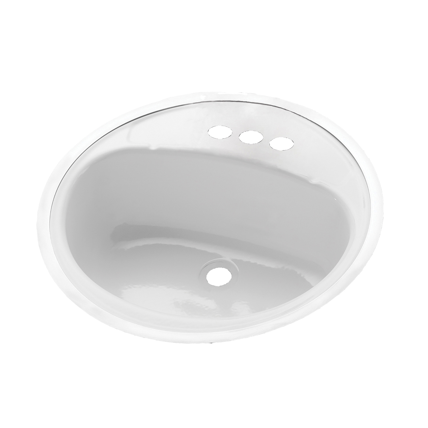 BOOTZ® 021-2430-00 Centerset Punch Lavatory Sink With Soap Depressions, Daisy, Round Shape, 4 in Faucet Hole Spacing, 7-13/16 in H, Flat Surface Mount, Porcelain/Steel, White, Domestic