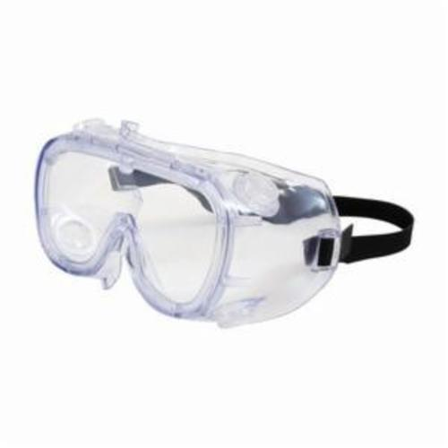 Bouton® 248-4401-400 Indirect Vent Protective Goggles, Anti-Fog/Anti-Scratch Clear Polycarbonate Lens, 99.9 % UV Protection, Elastic Strap