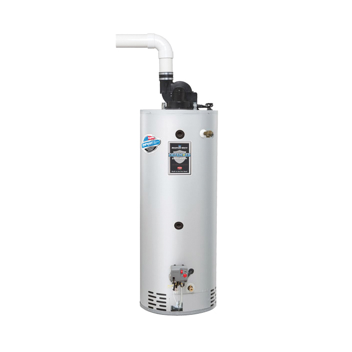 Bradford White® Combi2™ TTW® Defender Safety System® CDW2TW50T10FBN Gas Water Heater System, 67000 Btu/hr Heating, 45 gal Tank, Natural Gas Fuel, Power Vent, 72 gph Recovery, Domestic