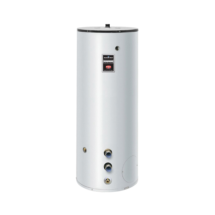 Bradford White® M3ST80R5 Small Volume Upright Jacketed Storage Tank, 80 gal Tank, 24 in Dia, 2 in NPT Inlet, Domestic