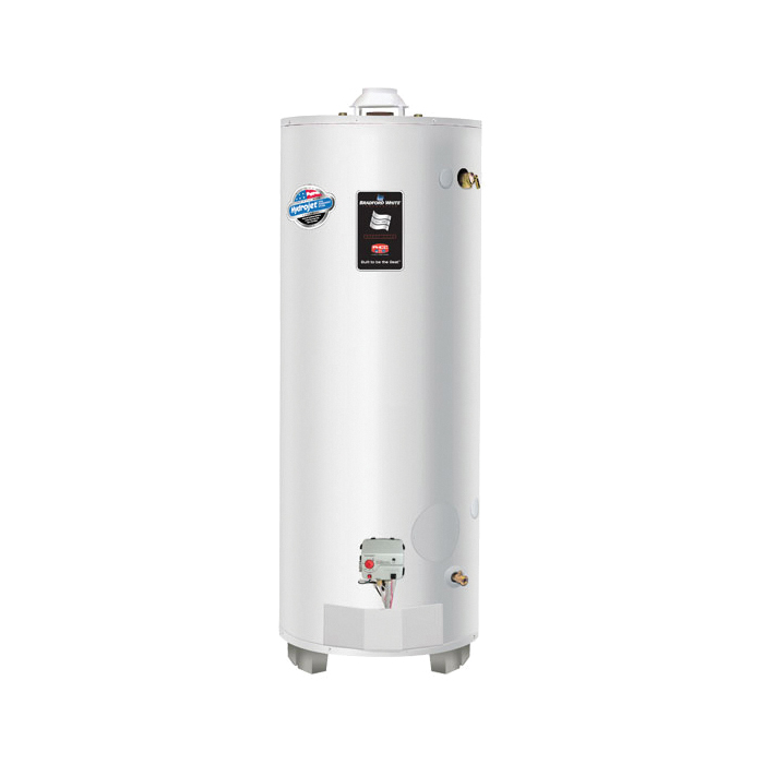 Bradford White® RG275H6N High Input Gas Water Heater, 76000 Btu/hr Heating, 75 gal Tank, Natural Gas Fuel, Atmospheric Vent, 82 gph Recovery, Domestic