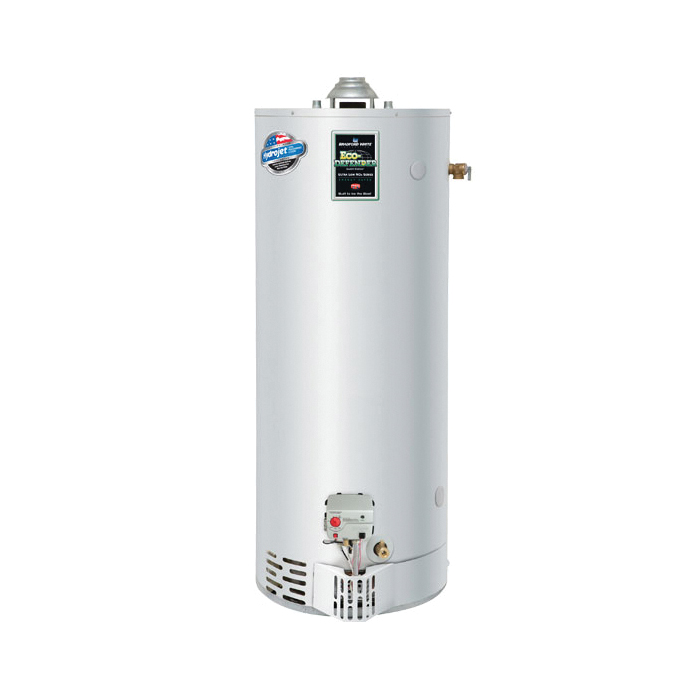 Bradford White® URG275H6N Gas Water Heater, 76000 Btu/hr Heating, 75 gal Tank, Natural Gas Fuel, Atmospheric Vent, 85 gph Recovery, Domestic