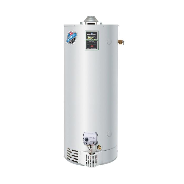 Bradford White® URG250H6N Gas Water Heater, 55000 Btu/hr Heating, 48 gal Tank, Natural Gas Fuel, Atmospheric Vent, 59 gph Recovery, Domestic