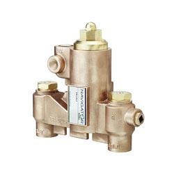 Bradley® Navigator® S59-2025 Standard Thermostatic Mixing Valve, 3/4 in, NPT, 125 psi, 25 gpm, Brass Body, Domestic