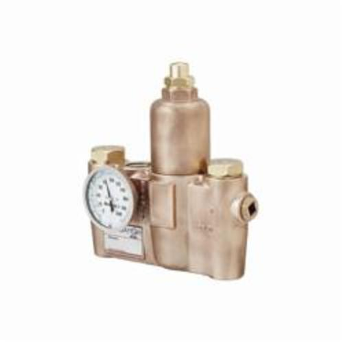 Bradley® Navigator® EFX25 S19-2100 Emergency Fixture Thermostatic Mixing Valve, 3/4 x 1 in, FNPT, 125 psi, 2 to 37 gpm Flow, Bronze Body, Domestic