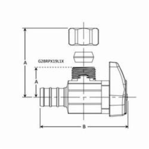 BrassCraft® G2BRPX19X C