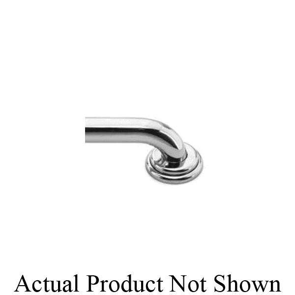 Newport Brass® 10-37/04 Model 10-37 Traditional Grab Bar, Alveston, 18 in L x 1-1/4 in Dia, PVD Satin Brass, Solid Brass