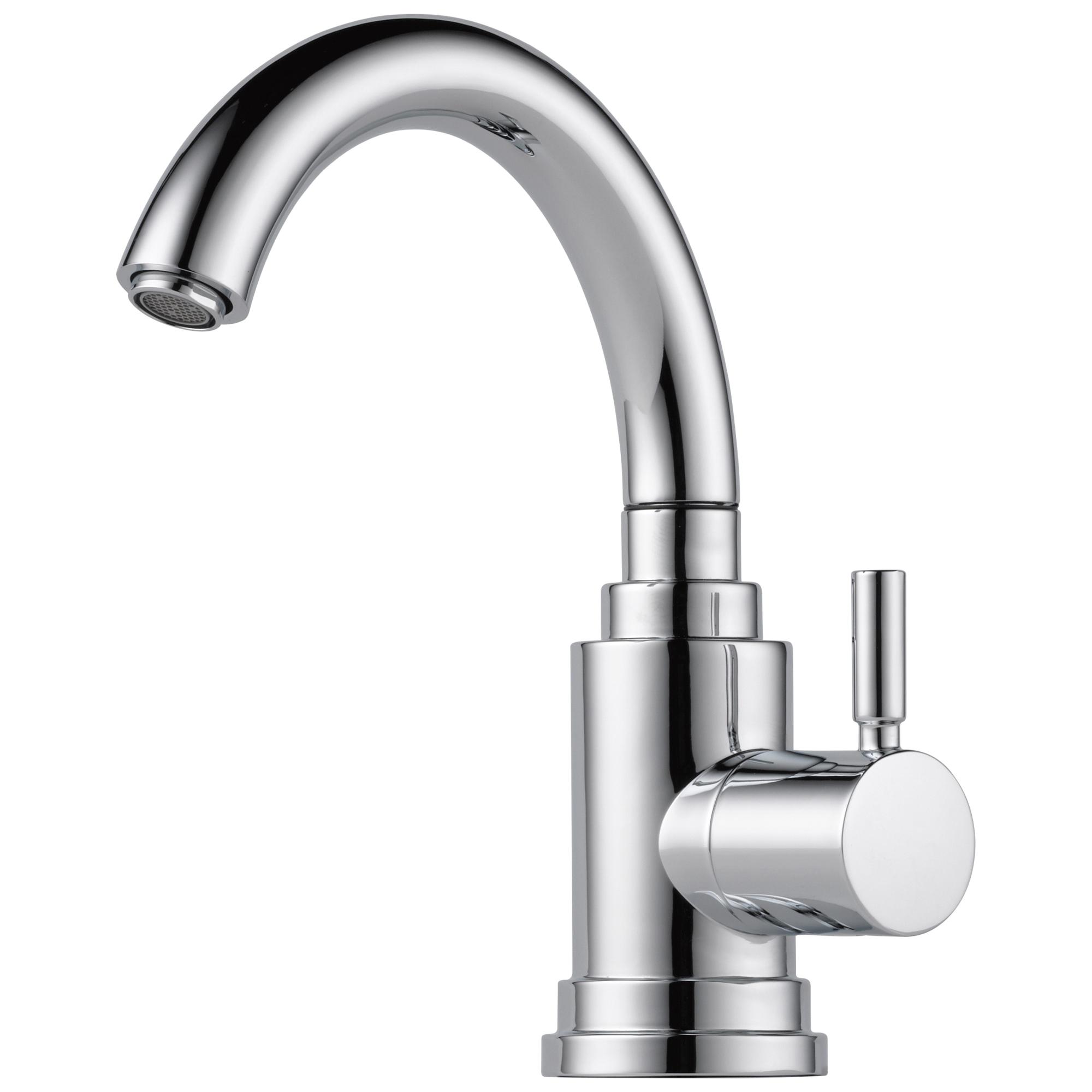 Brizo® 61320LF-PC Euro Beverage Faucet, 1.5 gpm Flow Rate, Polished Chrome, 1 Handles, Domestic