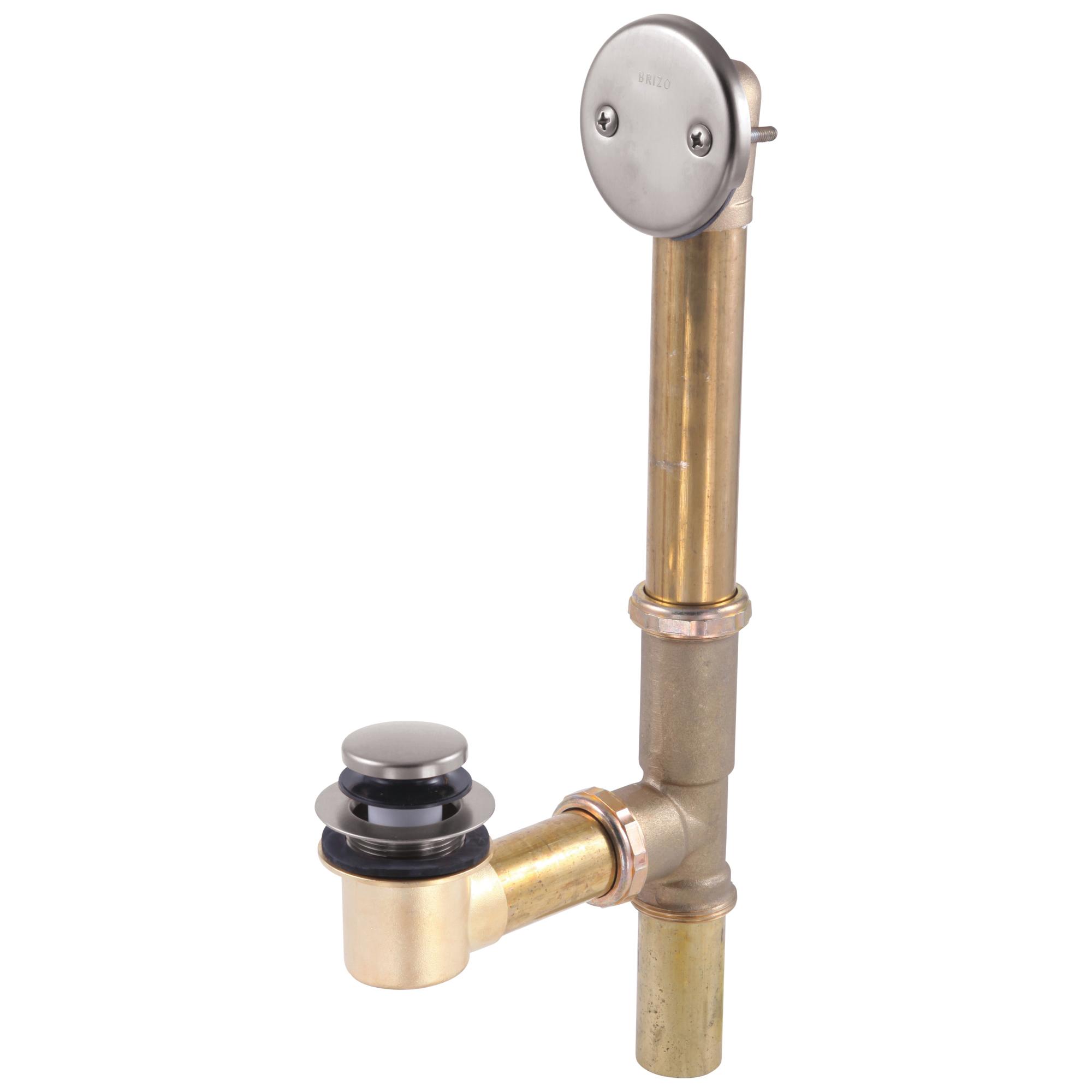 Brizo® RP43140NK Toe Operated Drain, Brass, Brilliance® Luxe Nickel, Domestic