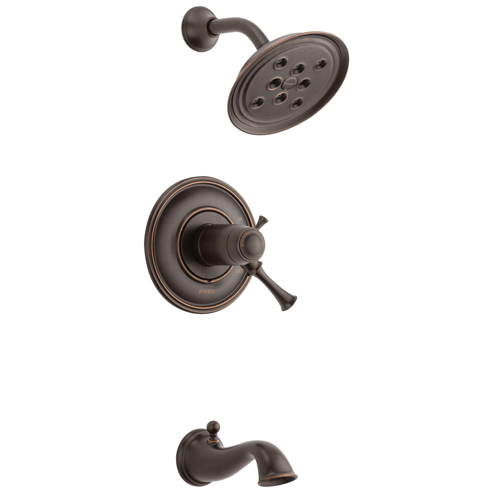 Brizo® T60405-RB TempAssure® Tub and Shower Faucet Trim, 2 gpm Shower, Venetian Bronze
