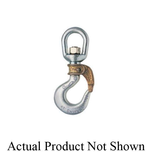 Bullard® 1050012 BL-A Golden Gate® Closed Swivel Bail Hook With PIN-LOK® Manual-Closing Gate, #2 Trade, 0.9 ton Load, Swivel Attachment