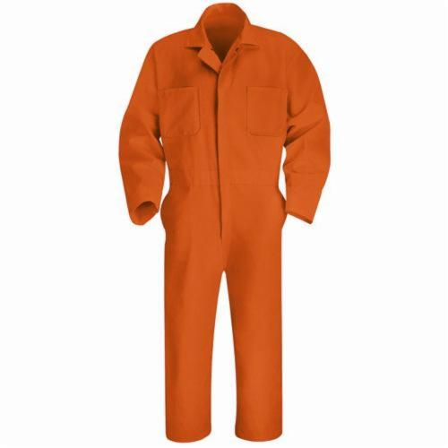 Red Kap® CT10BN-RG-36 Twill Action Back Coverall, Men's, S/Regular, Brown, 65% Polyester/35% Combed Cotton, 36 in Chest, 30 in L Inseam