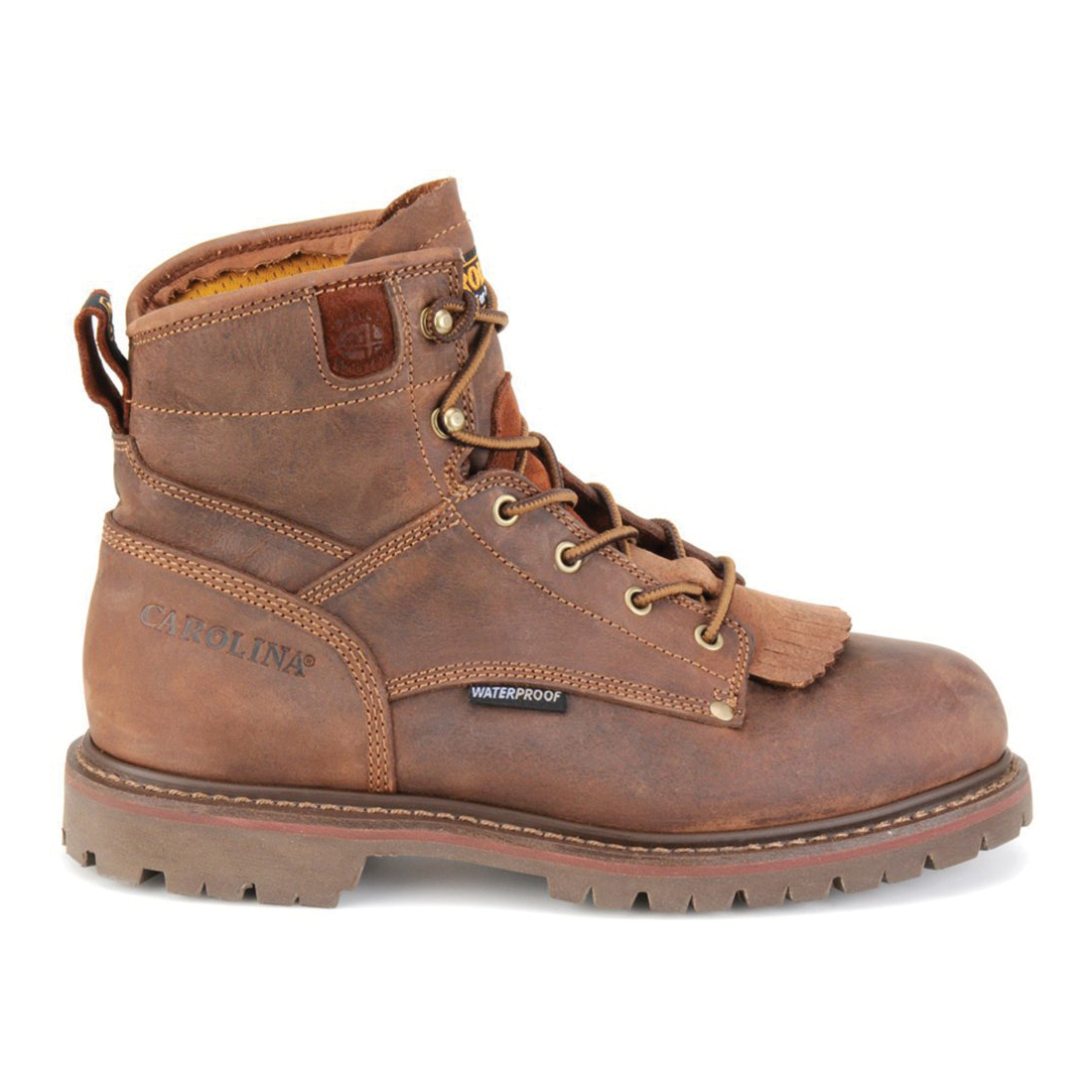 CAROLINA® CA5585-11EE General Purpose Work Boots, Men's, SZ 11 EE, 7 in H, Aluminum Toe, Bandit™ Stone Leather Upper, Rubber Outsole, Resists: Abrasion and Water, Specifications Met: ASTM I/75 C/75