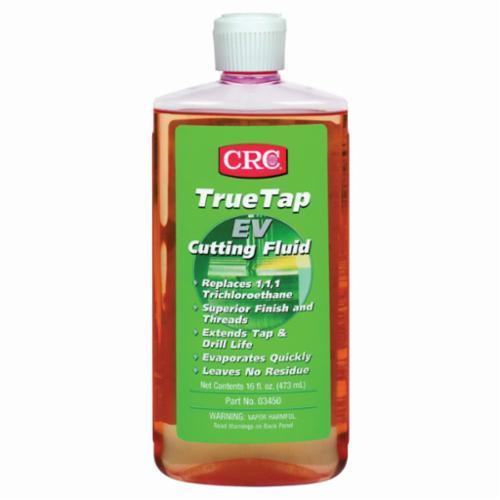 CRC® 03410 TrueTap® Foaming Flammable Oily Cutting Fluid, 16 oz Aerosol Can, Slight Petroleum Odor/Scent, Viscous Liquid Form, Clear