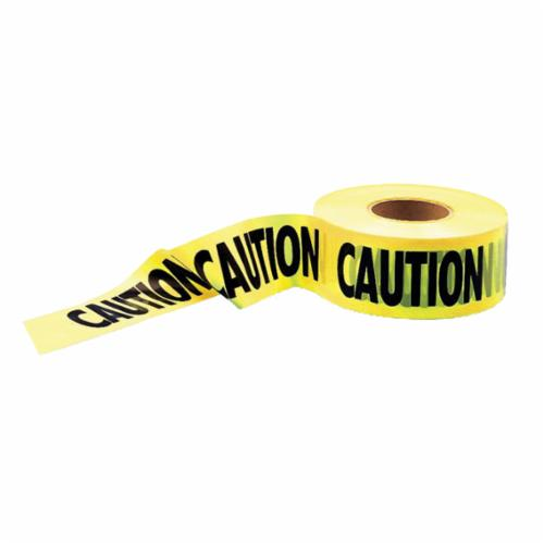 Brady® 146064 Caution Barricade Tape, CAUTION HARD HAT AREA, 3 in W x 500 ft L, Black on Yellow, Polyethylene