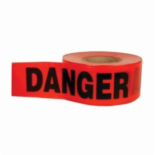 C.H.Hanson® 15041 Heavy Duty Barricade Safety Tape, Red/Black, 1000 ft L x 3 in W, Danger Do Not Enter Legend, Polyethylene