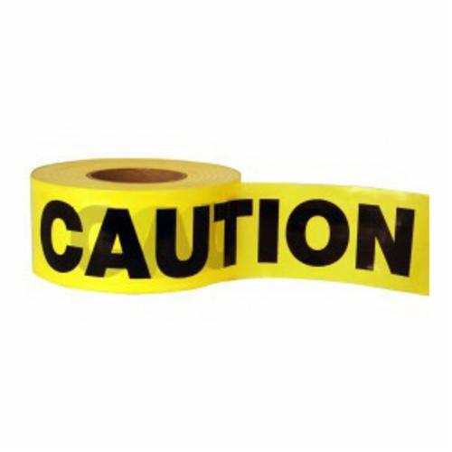 C.H.Hanson® 15142 Heavy Duty Barricade Safety Tape, Red, 1000 ft L x 3 in W, Danger Legend, Polyethylene