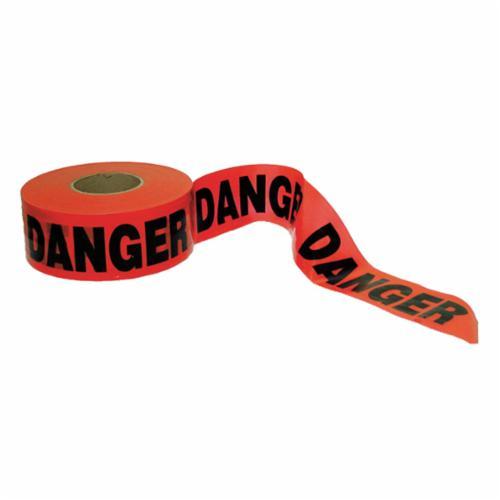 C.H.Hanson® 16000 Standard Grade Barricade Safety Tape, Yellow, 1000 ft L x 3 in W, Caution Legend, PVC