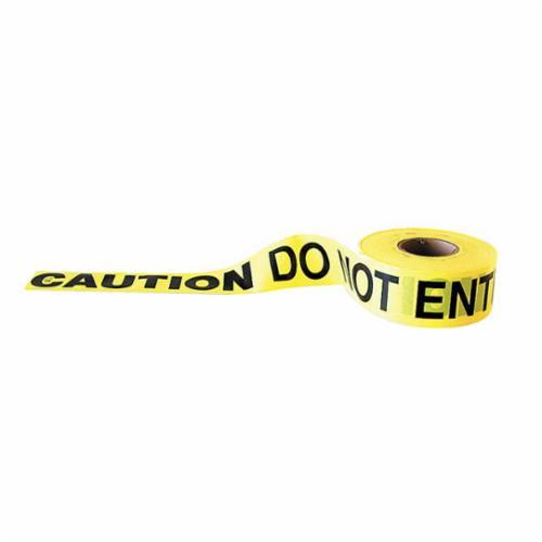 C.H.Hanson® 16003 Standard Grade Barricade Safety Tape, Red/Black, 1000 ft L x 3 in W, Danger Danger Legend, Polyethylene
