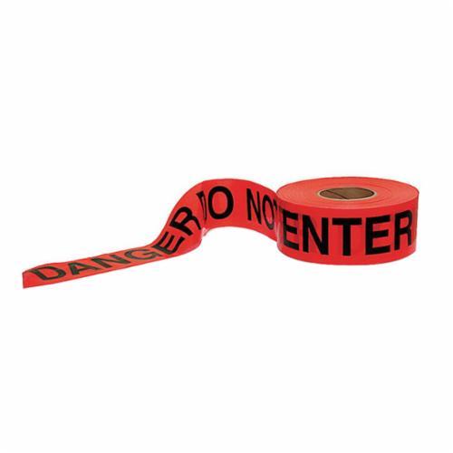 C.H.Hanson® 16004 Standard Grade Barricade Safety Tape, Yellow/Black, 1000 ft L x 3 in W, Caution Do Not Enter Legend, Polyethylene