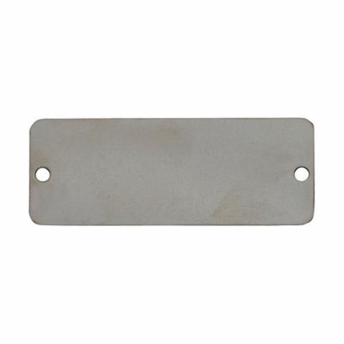 Brady® 13623 Non-Laminated Non-Reflective Backing Sign, 7-5/8 in H x 10-1/4 in W, B-401 Polystyrene, White, Rectangular Shape