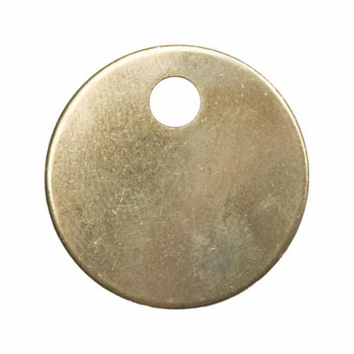 C.H.Hanson® 41273 2-Hole Blank Tag With Rounded Corners, 1 in H x 2 in W, 20 ga Stainless Steel, Rectangle Shape