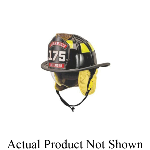 Cairns® 10047433 880 Traditional Fire Helmet With Cairns® ESS Goggles, Tetrabar and 5 in Silk Screened Eagle Front Holder, Ratchet Suspension, NFPA 1971-2018